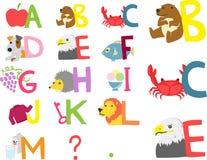 Alfabeto ilustrado mañana Imagen de archivo libre de regalías