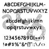 Alfabeto impreciso disegnato a mano di vettore Fotografia Stock Libera da Diritti