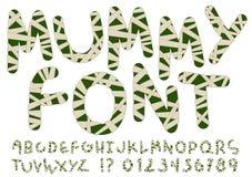 Alfabeto incomum do estilo da mamã Ilustração Stock