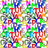 Alfabeto inconsútil Fotos de archivo