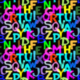 Alfabeto inconsútil Fotografía de archivo