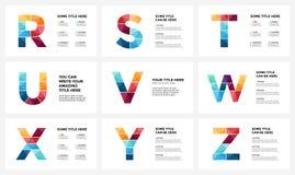 Alfabeto infographic, plantilla del vector de la diapositiva de la presentación Concepto del infographics del negocio con las let Fotografía de archivo libre de regalías