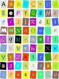 Alfabeto inglés Fotografía de archivo libre de regalías