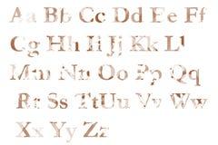 Alfabeto inglés Fotos de archivo