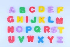 Alfabeto inglés imagen de archivo libre de regalías
