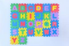 Alfabeto inglés Fotos de archivo libres de regalías