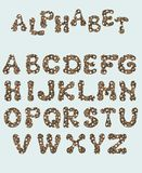 Alfabeto inglés, aislado en un fondo blanco, en un marco elegante, manuscrito Gr?fico de la acuarela Para el diseño de carteles, imagenes de archivo