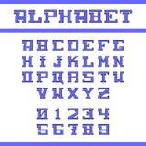 Alfabeto inglés azul Fotos de archivo libres de regalías