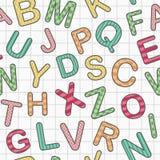 Alfabeto inglés como fondo inconsútil Imagen de archivo