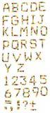 Alfabeto inglés de los caramelos coloridos Imagenes de archivo