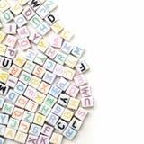 Alfabeto inglés del ABC como fondo Fotografía de archivo