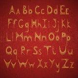 Alfabeto inglés del vector bordado en la cartulina Foto de archivo