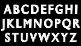Alfabeto inglés, fuente blanca 3D, mayúscula Aislado, fácil de utilizar HACER FRENTE A LA VERSIÓN IZQUIERDA Fotografía de archivo libre de regalías