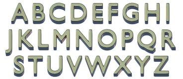 Alfabeto inglés mayúsculo Fuente de oro 3D Aislado, fácil de utilizar Imagen de archivo
