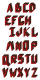 Alfabeto inglês ABC Letras principais Fotografia de Stock Royalty Free
