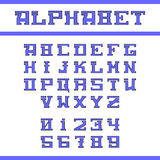 Alfabeto inglês azul Fotos de Stock Royalty Free