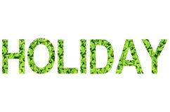Alfabeto inglês do feriado feito da grama verde no fundo branco para isolado Foto de Stock