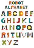 Alfabeto inglês do robô colorido Imagem de Stock