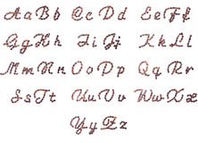Alfabeto inglês feito de feijões de café Fotos de Stock Royalty Free