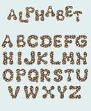 Alfabeto inglês, isolado em um fundo branco, em um quadro elegante, escrito à mão Desenho da aguarela Para o projeto dos cartazes imagens de stock