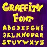 Alfabeto inglês no estilo dos grafittis Imagens de Stock Royalty Free
