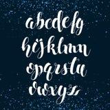 Alfabeto inglês Rotulação escovada moderna Imagens de Stock