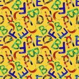 Alfabeto ingl?s do teste padr?o das crian?as ilustração royalty free