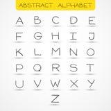 Alfabeto inglese Immagini Stock