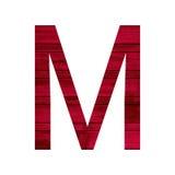 Alfabeto inglese con struttura di legno rossa fotografia stock libera da diritti