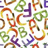 Alfabeto inglese del modello dei bambini illustrazione di stock
