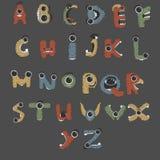 Alfabeto inglese del mostro a forma di come mostri Fotografia Stock