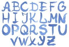 Alfabeto inglese dell'acquerello Immagini Stock Libere da Diritti