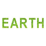 Alfabeto inglese di TERRA fatto da erba verde su fondo bianco Immagine Stock Libera da Diritti
