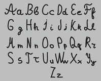 Alfabeto inglese Fonte ruvida della scrittura Immagine Stock Libera da Diritti