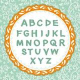 Alfabeto inglese Lettera sui precedenti floreali Vettore Fotografia Stock