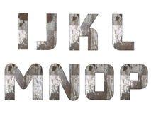 Alfabeto inglese, numeri e segni isolati, grungy Fotografia Stock