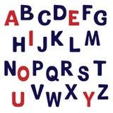 Alfabeto inglese semplice Immagini Stock