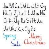 Alfabeto inglese trascuratamente scritto a mano illustrazione vettoriale