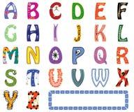 Alfabeto inglés divertido Imágenes de archivo libres de regalías