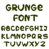 Alfabeto inglés en estilo del grunge Foto de archivo libre de regalías