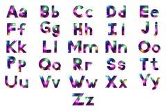 Alfabeto, insieme delle lettere, fuoco d'artificio Fotografie Stock Libere da Diritti