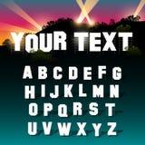 Alfabeto intrépido de la muestra con la sombra Imágenes de archivo libres de regalías