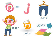 Alfabeto J ilustración del vector