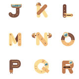 Alfabeto J-R Robot Fotos de archivo libres de regalías