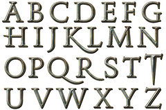 Alfabeto Kane Style Scrapbooking Element de Digitaces Imagen de archivo libre de regalías