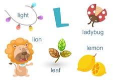 Alfabeto L stock de ilustración