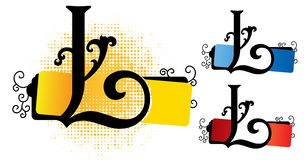 Alfabeto l vector Imagenes de archivo