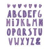Alfabeto latin bonito ilustração stock