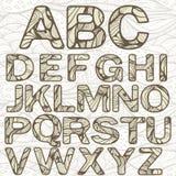 Alfabeto Latin Funky ilustração royalty free