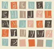 alfabeto latin no vetor Fotografia de Stock Royalty Free